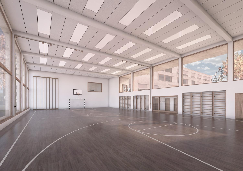 5. Bild zum Projekt 'Schulhaus Seegarten Arbon – 2. Rang'
