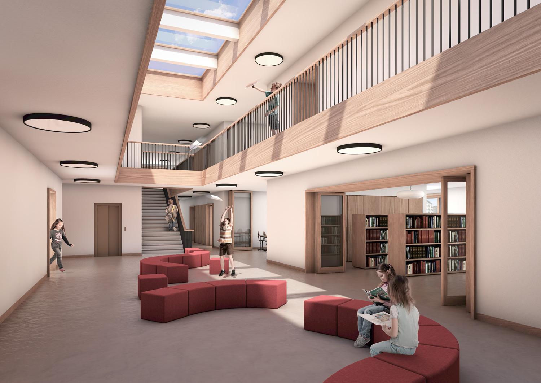 4. Bild zum Projekt 'Schulhaus Seegarten Arbon – 2. Rang'