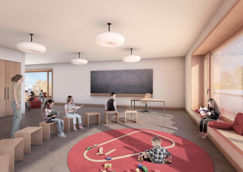 3. Bild zum Projekt 'Schulhaus Seegarten Arbon – 2. Rang'