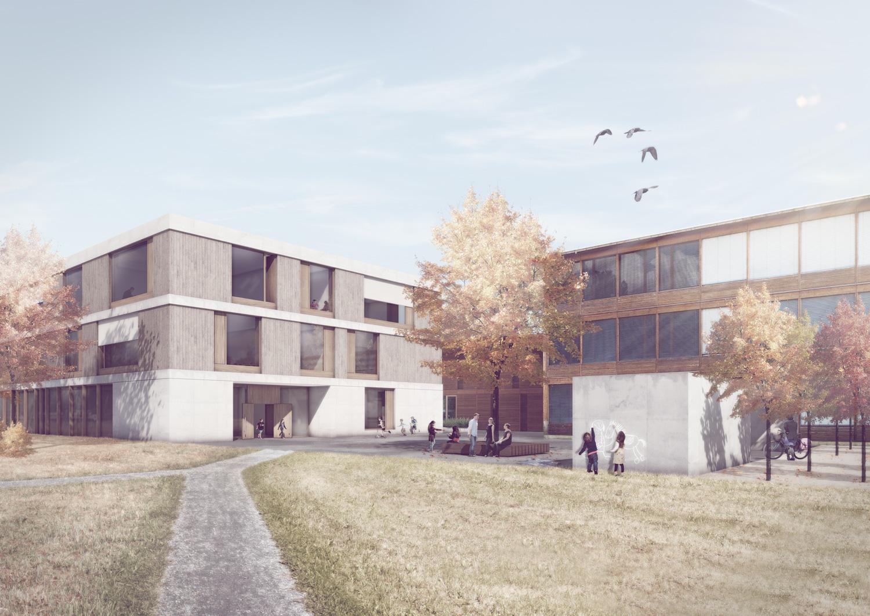 1. Bild zum Projekt 'Schulanlage Riedmatt, Zug'