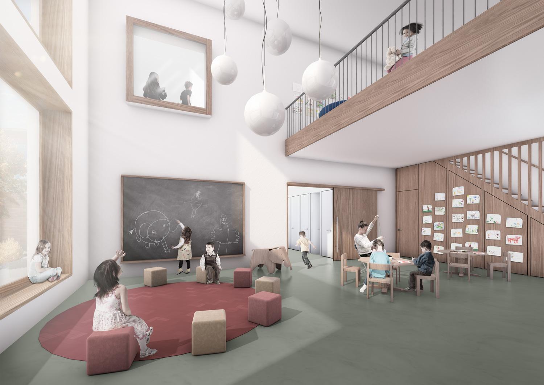 3. Bild zum Projekt 'Schulanlage Riedmatt, Zug'