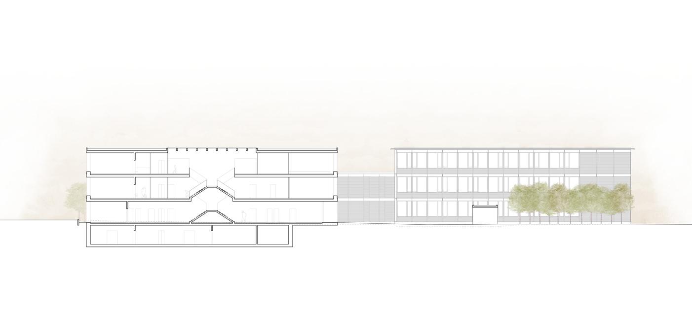 8. Bild zum Projekt 'Schulanlage Riedmatt, Zug'