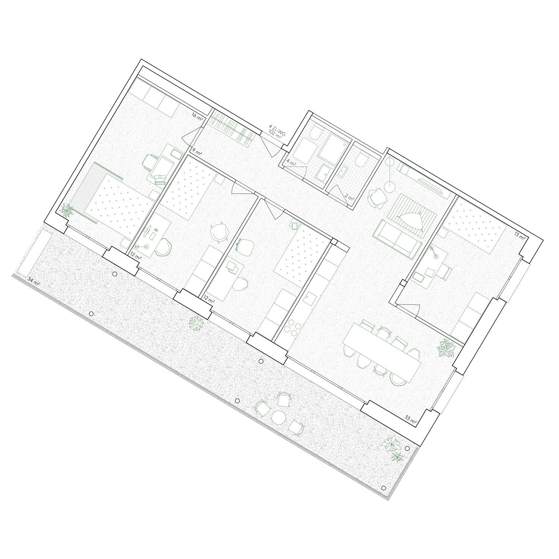 13. Bild zum Projekt 'Haus Eber Zürich'