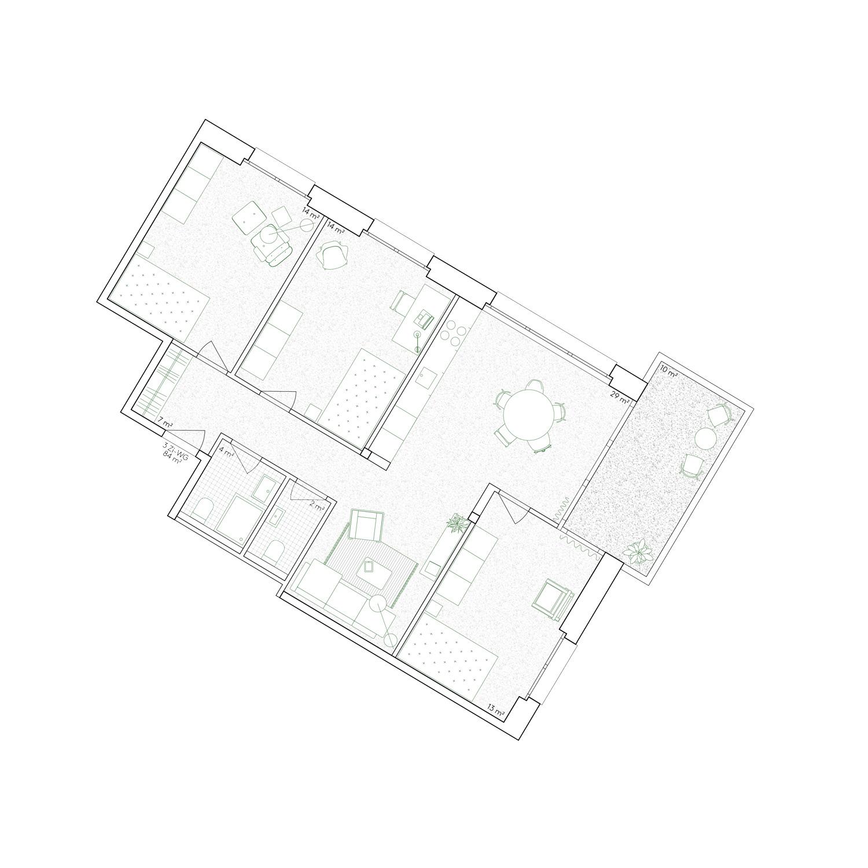 11. Bild zum Projekt 'Haus Eber Zürich'