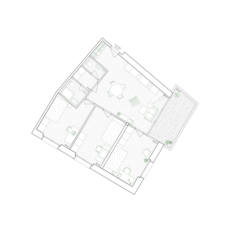 9. Bild zum Projekt 'Haus Eber Zürich'