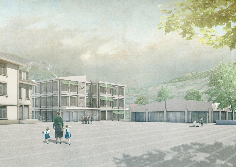 3. Bild zum Projekt 'Schule/Mehrzweckhalle Salgesch'