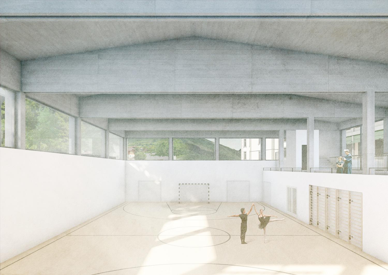 6. Bild zum Projekt 'Schule/Mehrzweckhalle Salgesch'