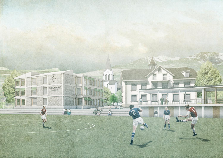 4. Bild zum Projekt 'Schule/Mehrzweckhalle Salgesch'