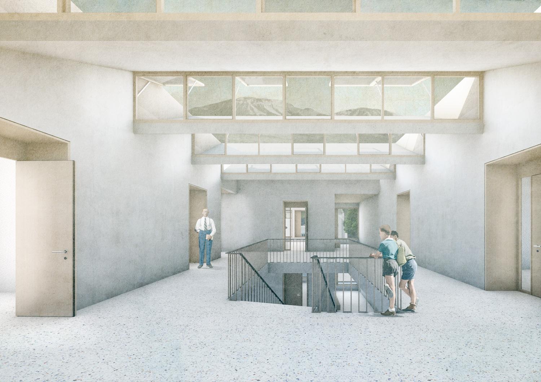 5. Bild zum Projekt 'Schule/Mehrzweckhalle Salgesch'