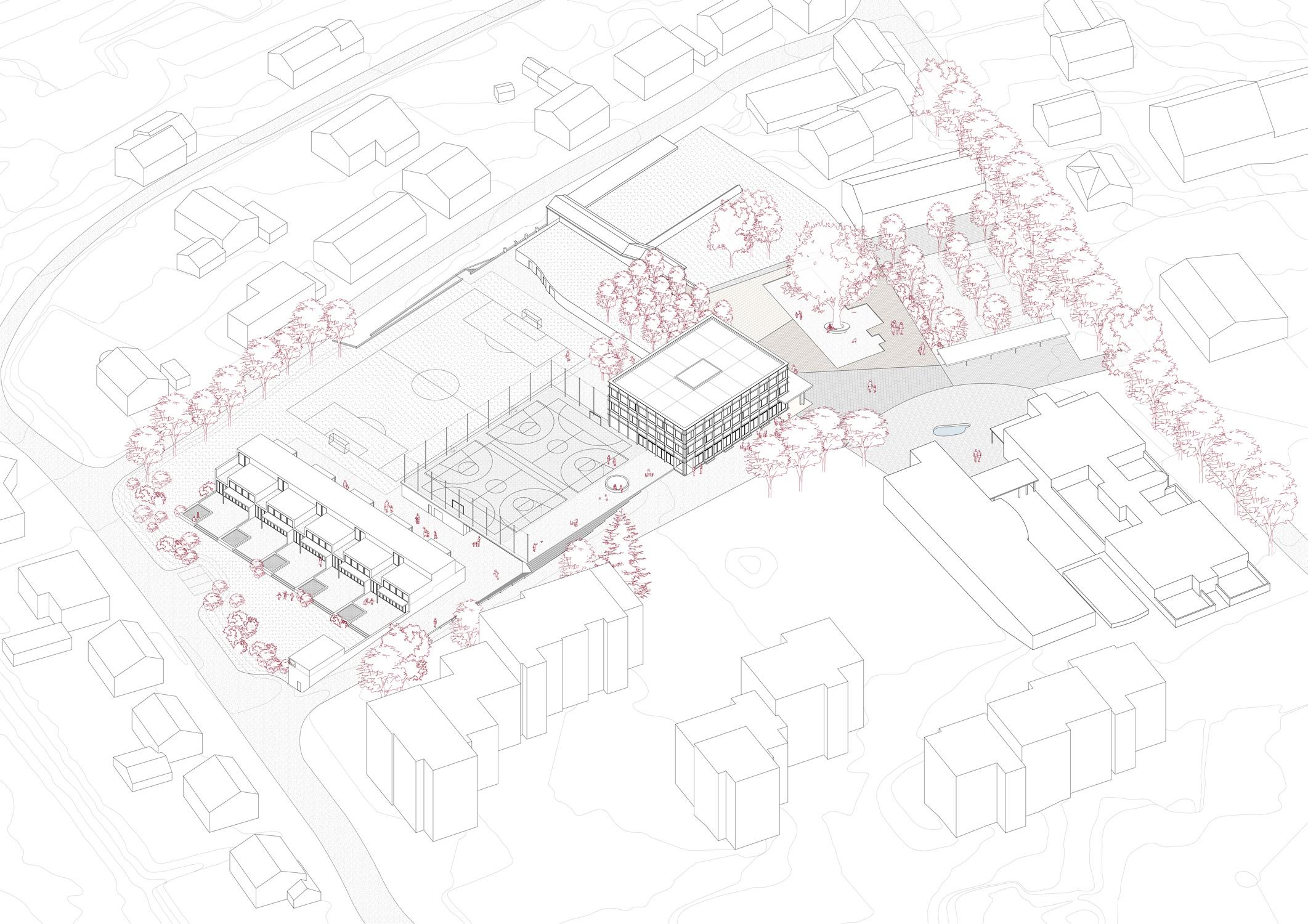 5. Bild zum Projekt 'Erweiterung Schulanlage Widen'