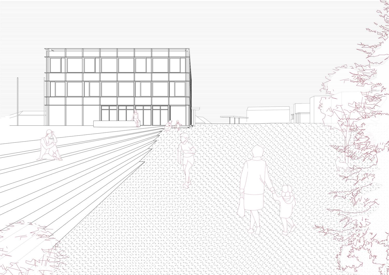 13. Bild zum Projekt 'Erweiterung Schulanlage Widen'