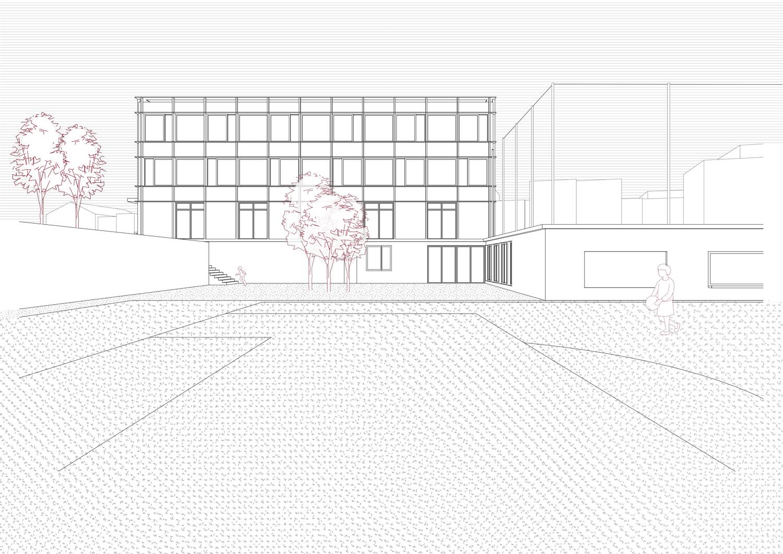 12. Bild zum Projekt 'Erweiterung Schulanlage Widen'
