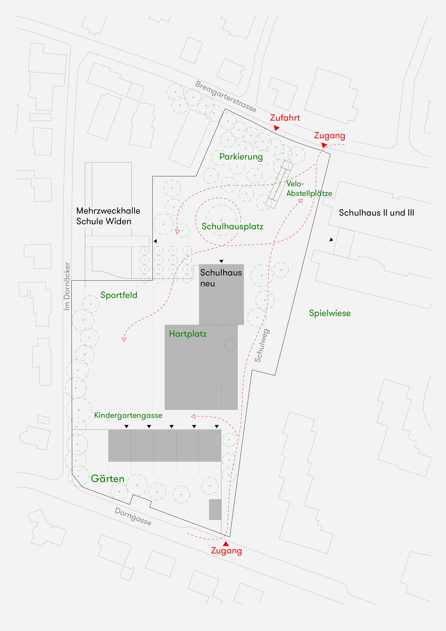 14. Bild zum Projekt 'Erweiterung Schulanlage Widen'